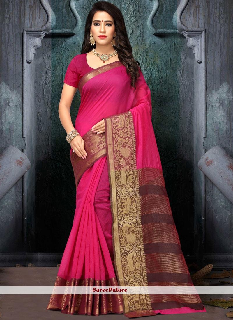 Cotton Silk Weaving Work Traditional  Saree