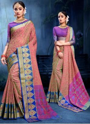 Cotton Silk Woven Traditional Designer Saree