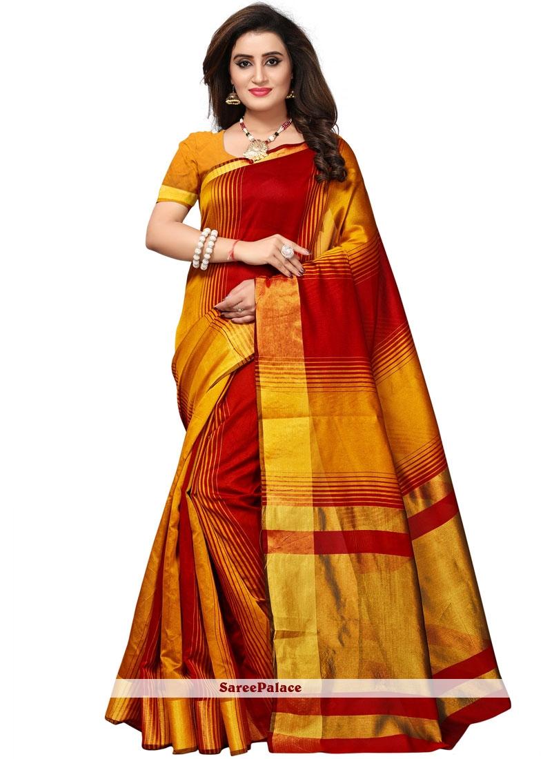 Cotton Silk woven Work Casual Saree