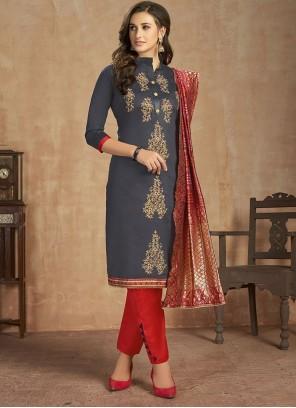 Cotton Thread Work Salwar Kameez