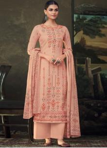 Cotton Trendy Salwar Suit in Peach