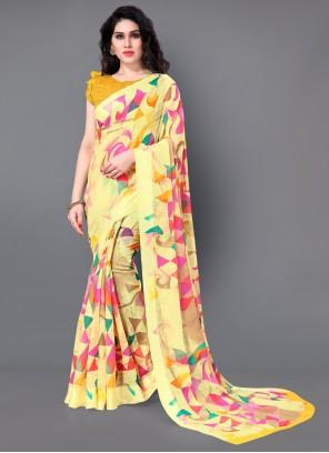 Cotton Trendy Saree in Yellow