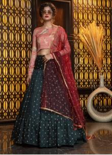 Cotton Violet Weaving Trendy Lehenga Choli