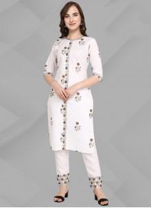 Cotton White Designer Kurti
