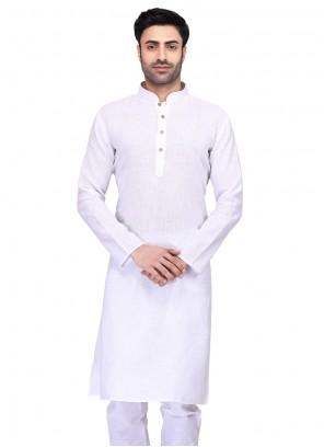 Cotton White Kurta
