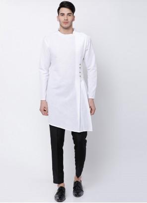 Cotton White Kurta Pyjama