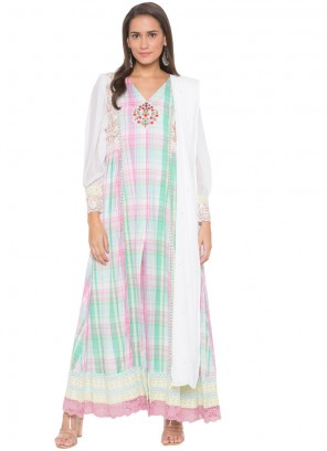 Cotton White Readymade Suit