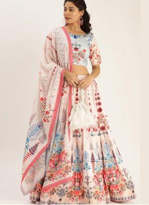 Cream Color Bollywood Lehenga Choli