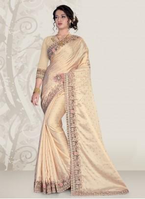 Cream Color Classic Designer Saree