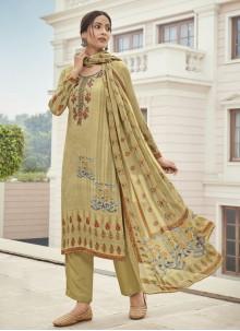 Cream Color Designer Palazzo Suit
