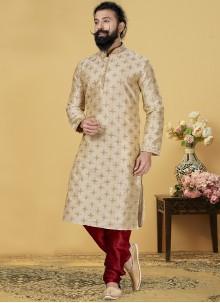 Cream Color Kurta Pyjama