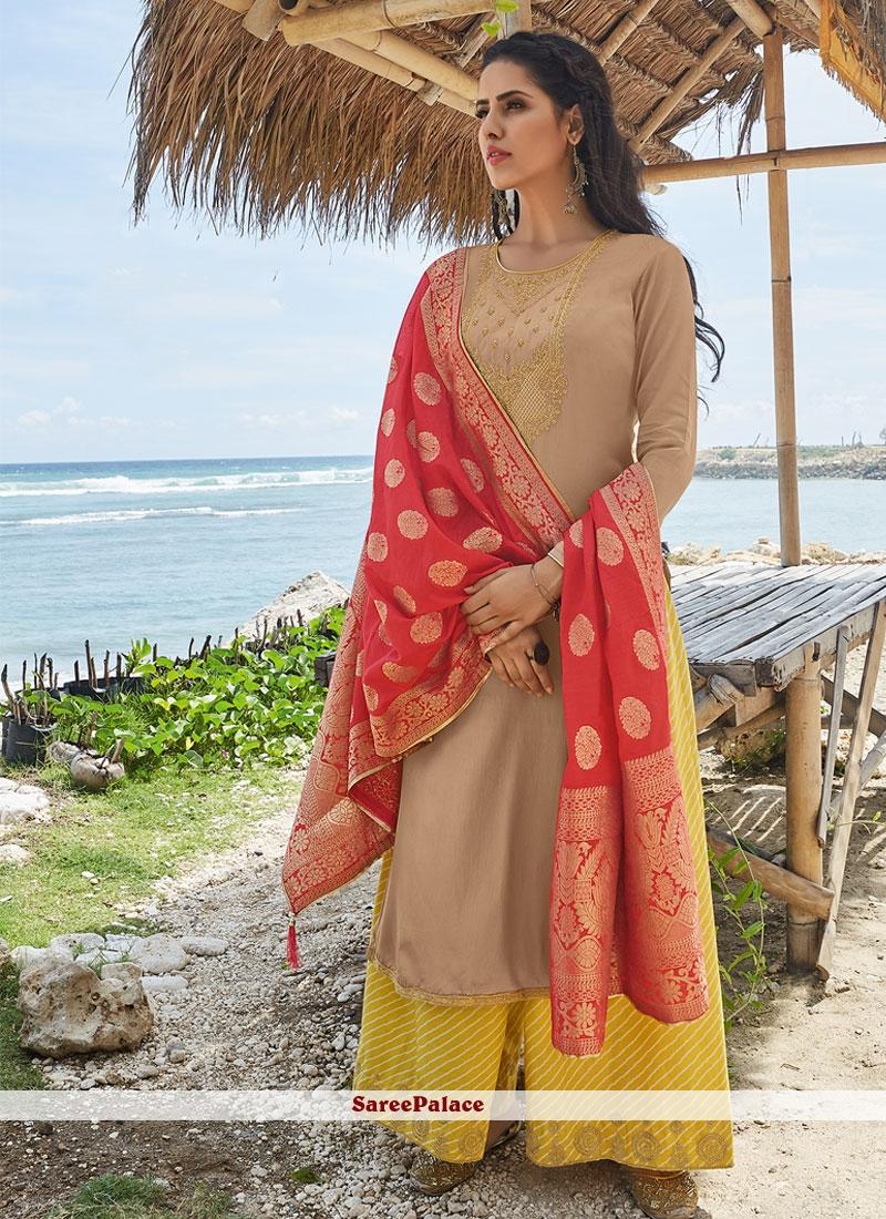 Cream Color Salwar Suit