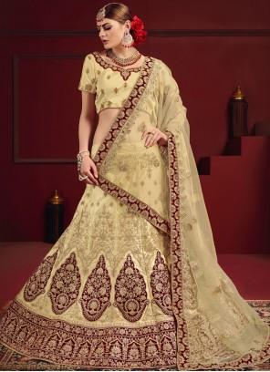 Cream Dori Work Designer Lehenga Choli