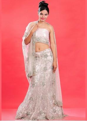 Cream Fancy Bridal Lehenga Choli