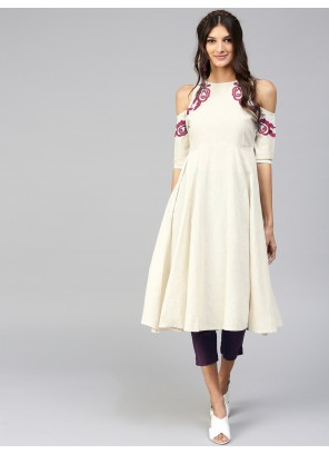 Cream Party Salwar Suit