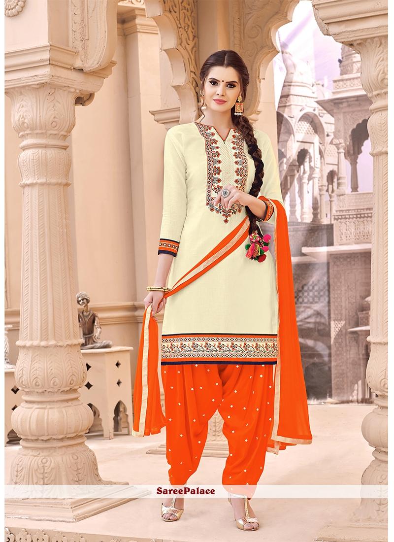 Cream Punjabi Suit
