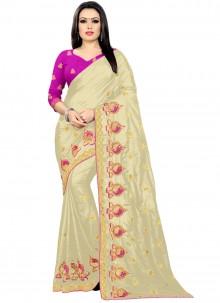 Cream Silk Festival Classic Saree