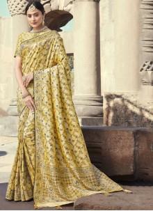 Cream Wedding Designer Traditional Saree