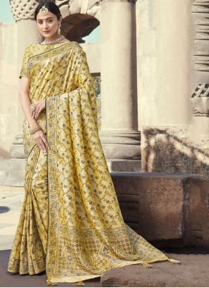Cream Wedding Designer Traditional Saree