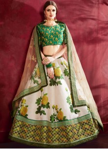 Cream Wedding Lehenga Choli