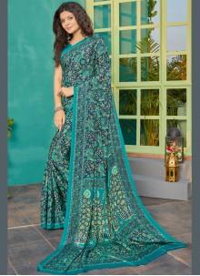 Crepe Silk Multi Colour Classic Saree