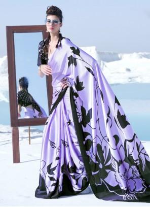 Crepe Silk Multi Colour Printed Trendy Saree