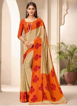 Crepe Silk Multi Colour Traditional Saree
