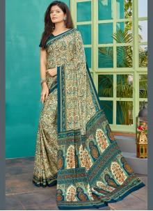Crepe Silk Printed Designer Saree