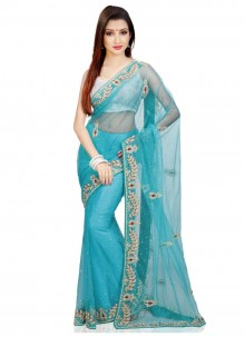 Cutdana Work Contemporary Saree