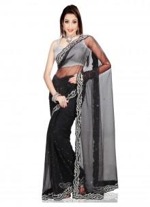 Cutdana Work Net Classic Saree