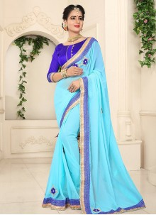 Dainty Lace Work Classic Saree