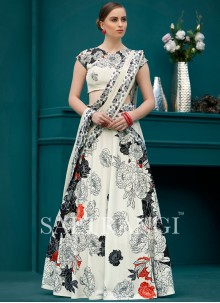 Dashing Print Work Lehenga Choli