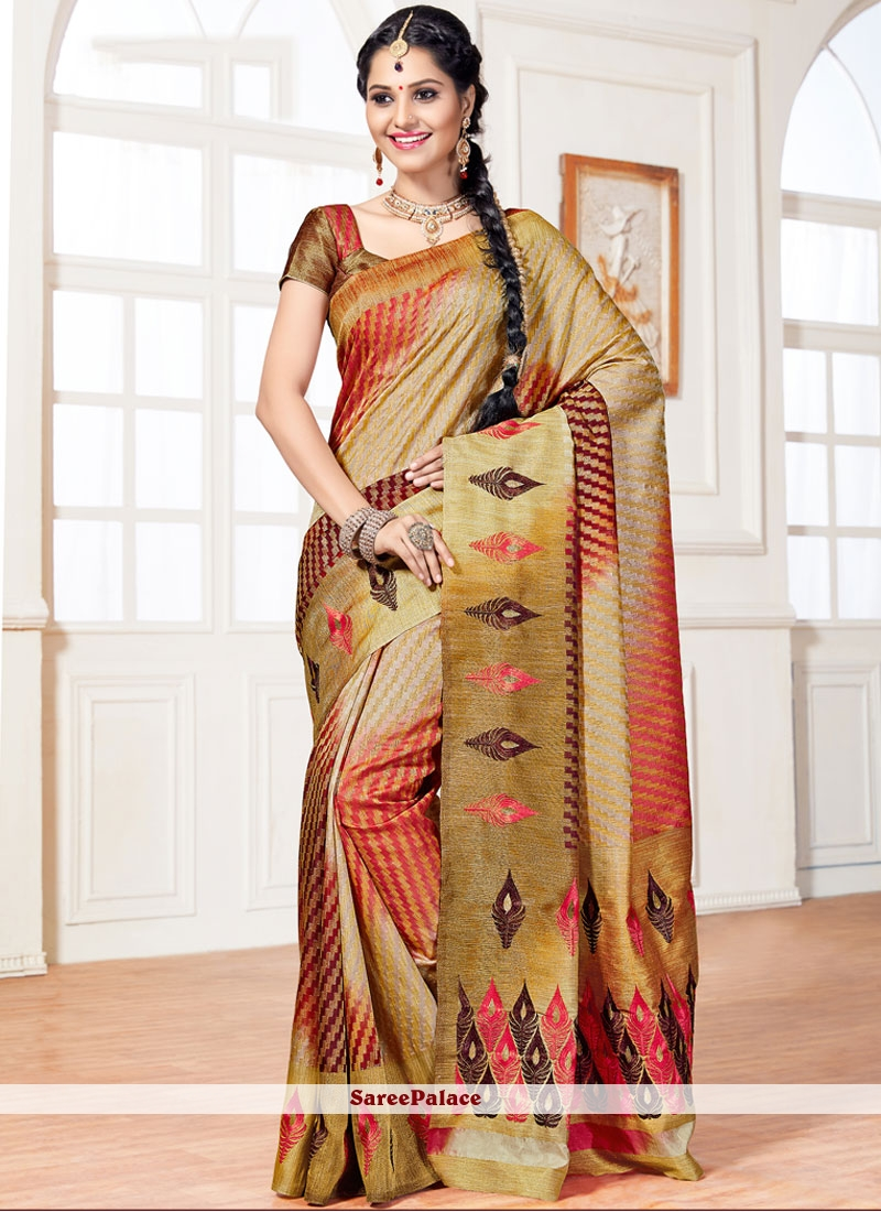 Dazzling Art Silk Weaving Work Designer Traditional Saree