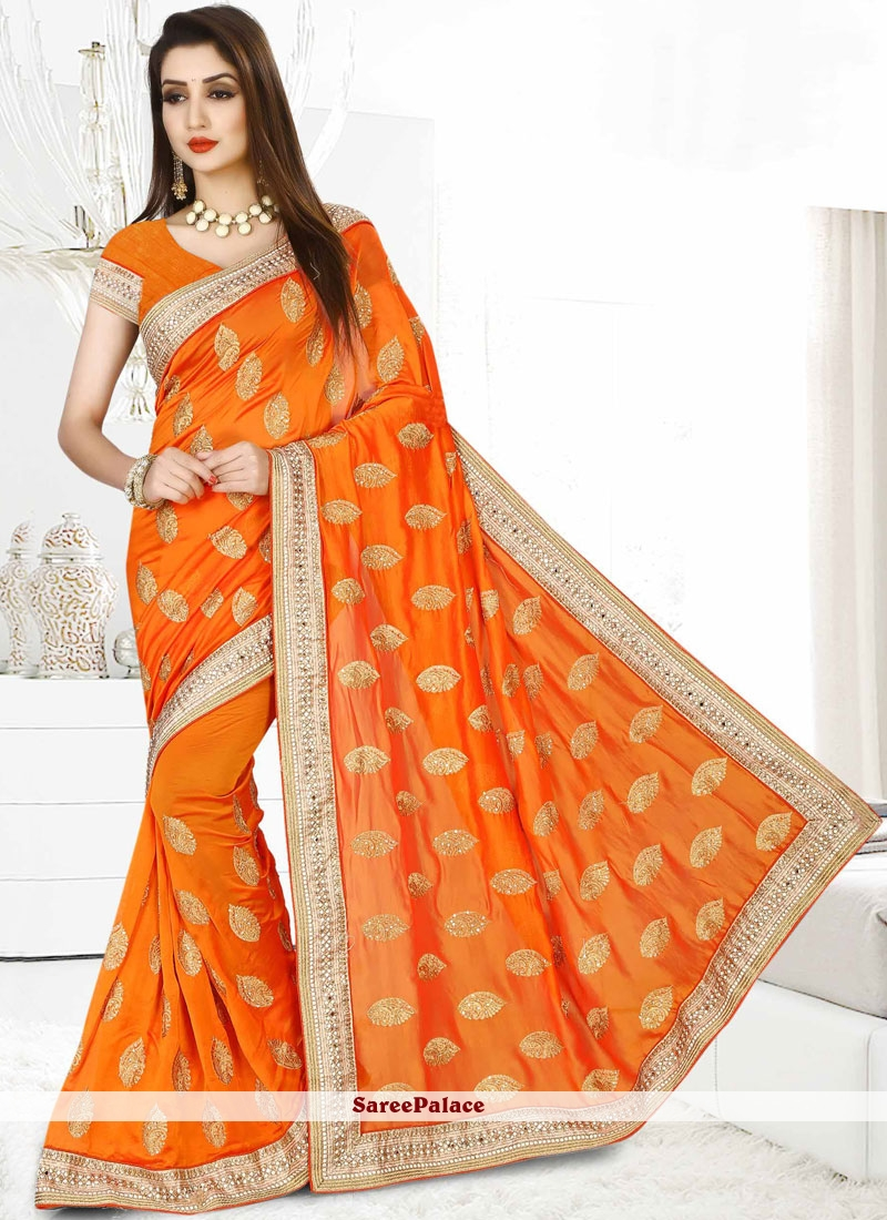 Dazzling Patch Border Work Classic Designer Saree