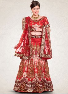 Dazzling Resham Work Art Silk Lehenga Choli