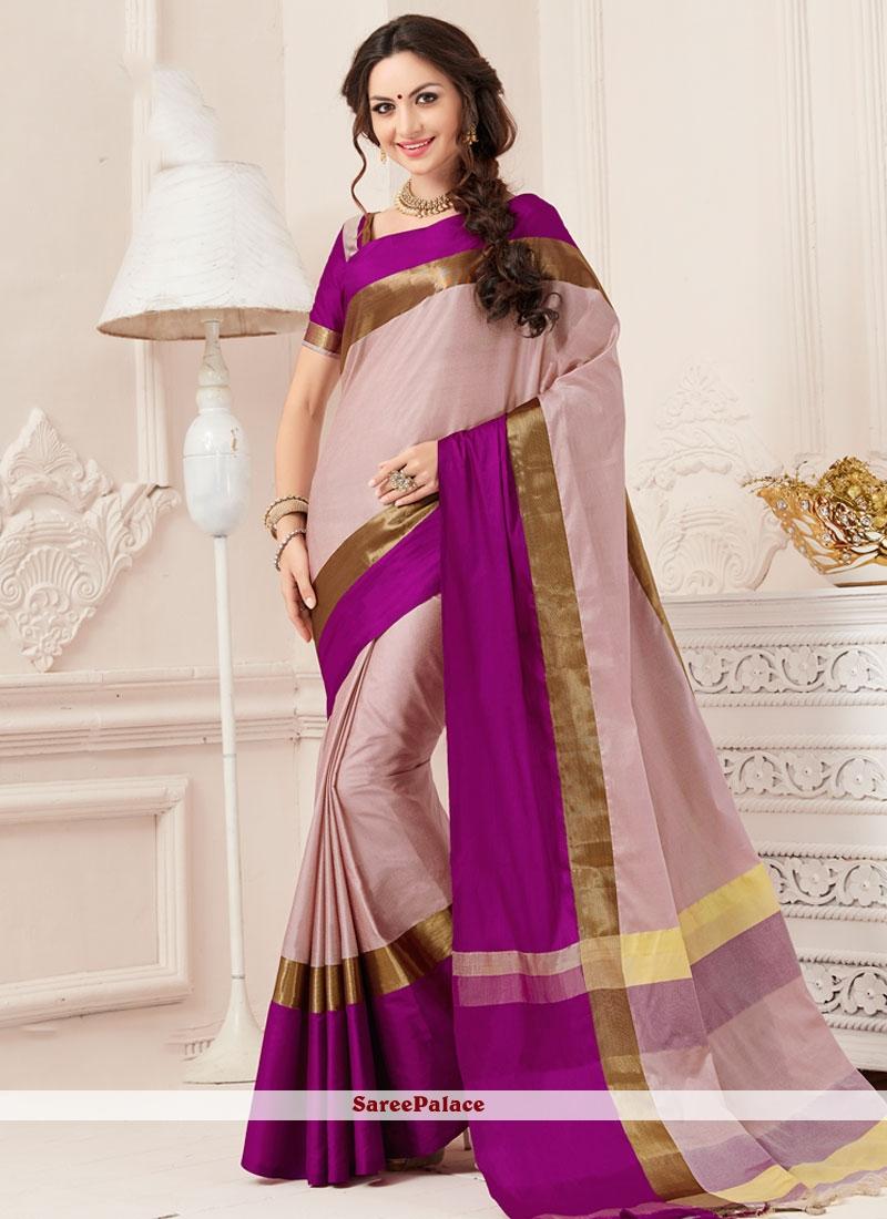 Delectable Art Silk Purple woven Work Traditional Designer Saree