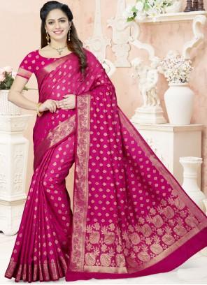 Delightful Magenta Traditional Designer Saree