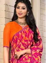 Delightsome Hot Pink Casual Saree