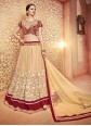 Deserving Beige Net Lehenga Choli