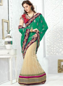 Deserving Butta Work Net Lehenga Saree