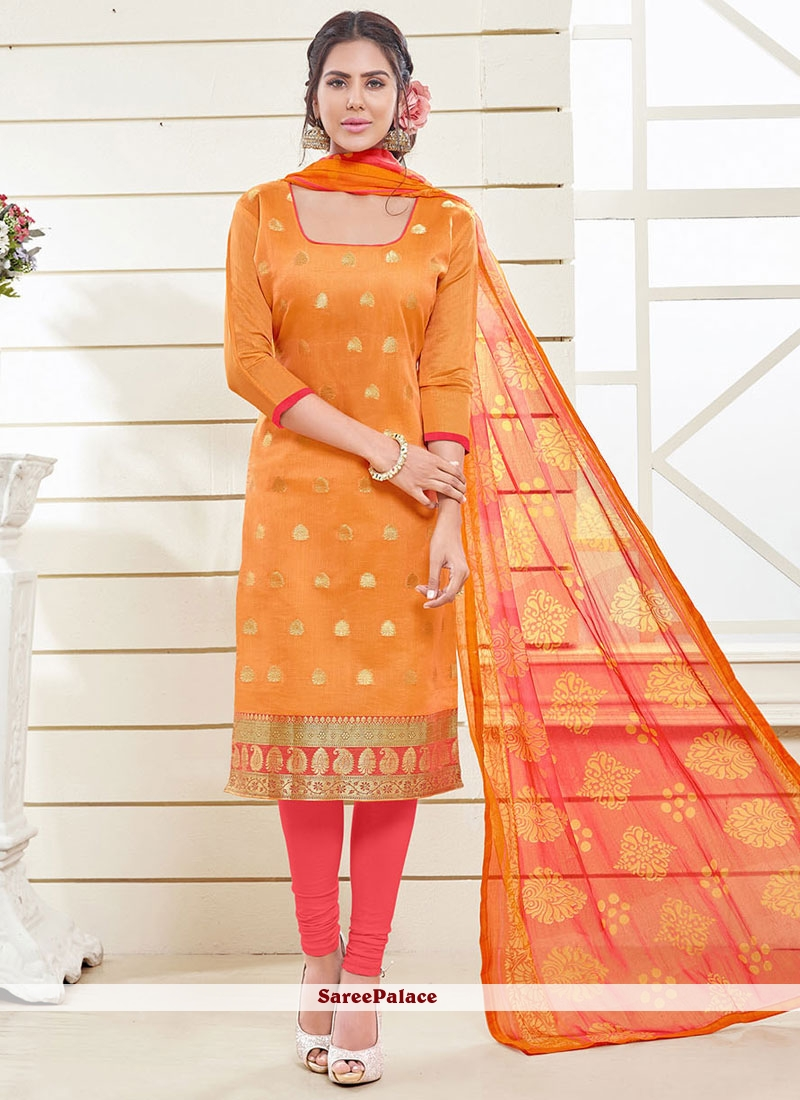 Deserving Lace Work Churidar Designer Suit
