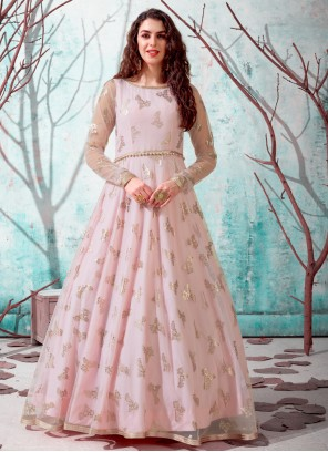 Pink Designer Gown For Festival