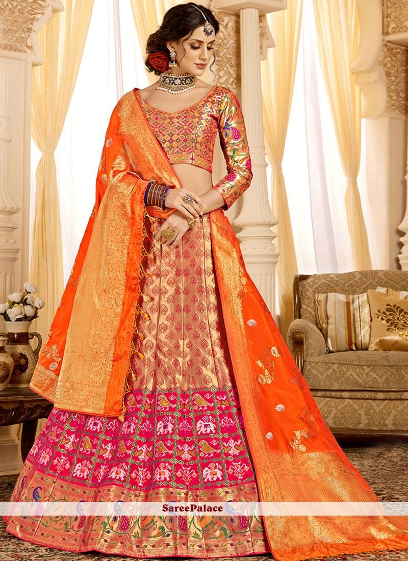b9e16ffe9 Buy Beige and Pink Designer Lehenga Choli For Mehndi Online