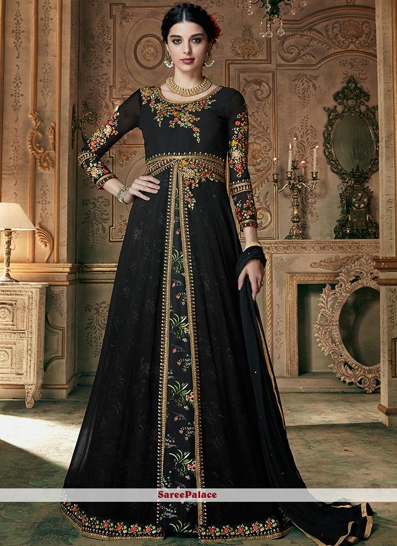 55bf2f8a8e0 Buy Black Designer Lehenga Choli For Sangeet Online
