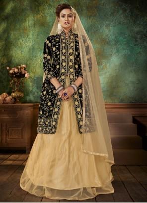 Designer Long Black Lehenga Choli For Sangeet