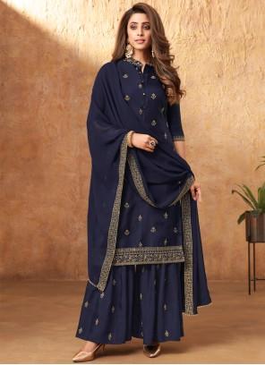 Blue Designer Pakistani Salwar Suit For Festival