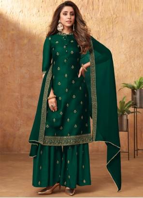 Green Designer Pakistani Suit For Festival