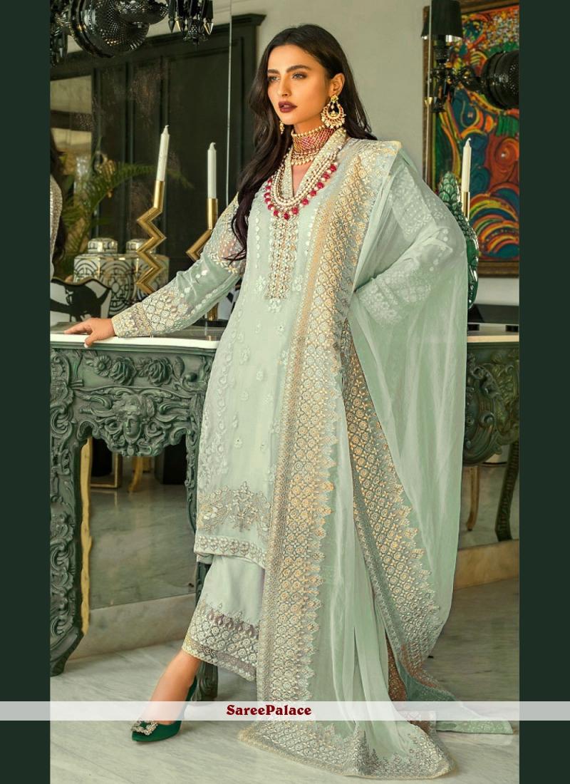 Sea Green Designer Pakistani Suit For Sangeet