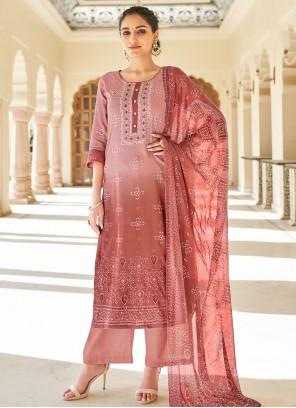 Mauve Designer Palazzo Suit For Festival