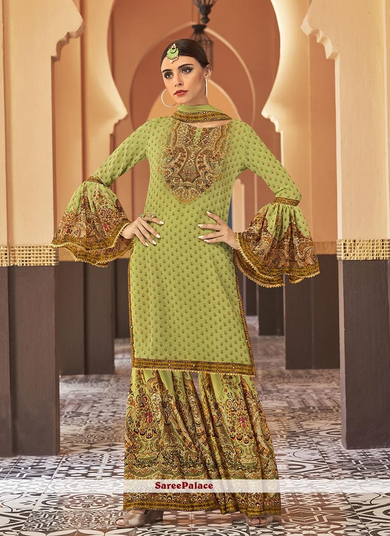 Designer Palazzo Suit For Wedding